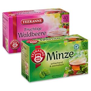 Teekanne Früchtetee oder Kräutertee versch. Sorten, jede 50er = 112,5/175-g-Aufgussbeutel-Packung und weitere Sorten