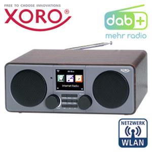 DAB+-WLAN-Internet-Radio DAB 600 IR V2 · 12 Watt RMS · 7,1-cm-TFT-Farb-Display · FM-Radio, 2 Weckzeiten · Wettervorhersage · MP3-Streaming, USB-/Aux--Anschluss · inkl. Fernbedienung und Netzada