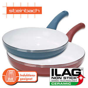 "Pfannen-Serie ""Natero"" - Aluminium - moderne Keramikbeschichtung - versch. Farben - z. B. ca. 24 cm Ø - ab"