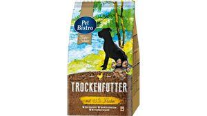 Pet Bistro Gourmet-Mahlzeit für Hunde reich an Geflügel