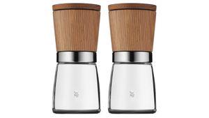 WMF Salz-/Pfeffermühlen-Set 2-teilig Holz/Glas Ceramill® Nature