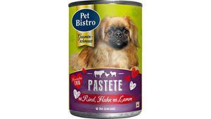 Pet Bistro Hundenassfutter - Pastete mit Rind, Huhn und Lamm