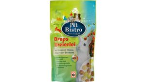 Pet Bistro Nager Drops Dreierlei mit Joghurt, Honig und Erdbeere