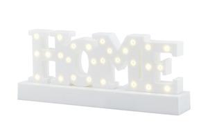 LED-Schriftzug HOME, Weiß