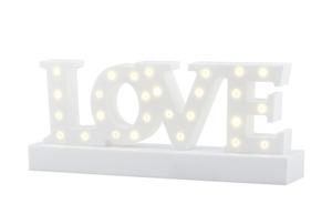 LED-Schriftzug LOVE, Weiß
