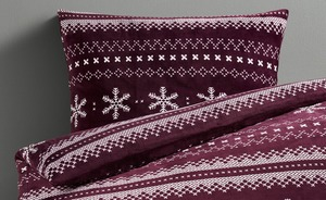 Flanell-Fleece-Bettwäsche Snowflake