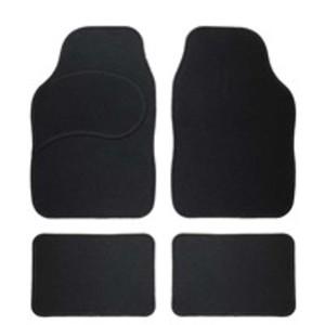 Textil-Fußmatten Colour-Line im 4-teiligem Set, schwarz