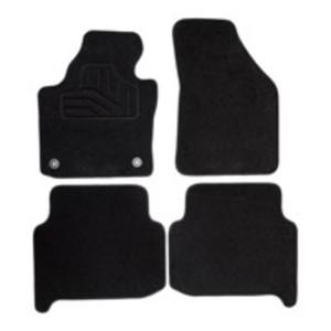 Norauto Passform Autoteppich im 4-teiligen Komplettset, Auto Textil Fußmatten für Opel Astra G  Baujahr 1998 - 2004, schwarz
