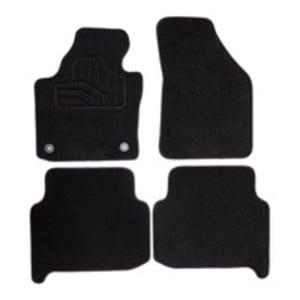Norauto Passform Autoteppich im 4-teiligen Komplettset, Auto Textil Fußmatten für Ford Focus III Baujahr 2012 - 2018, schwarz