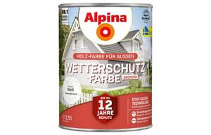 Alpina-Wetterschutzfarbe weiß 2,5 Liter