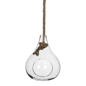 Sil Vase haengend transparant - h25xd20cm
