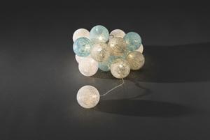 Konstsmide - LED Dekolichterkette, hellblaue/graue/weiße