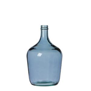 Diego Flasche glas blau - h30xd18cm