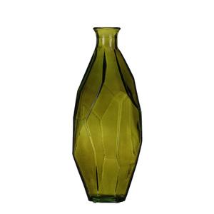 Origami Flasche glas gruen - h31xd13cm