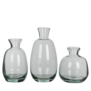 Gina Vase transparant 3 Stueck in Giftbox - h17,5xd9cm
