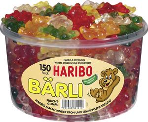 Haribo Bärli, Gummibärchen, Weingummi, Fruchtgummi, 150 Stück, 1050g Dose