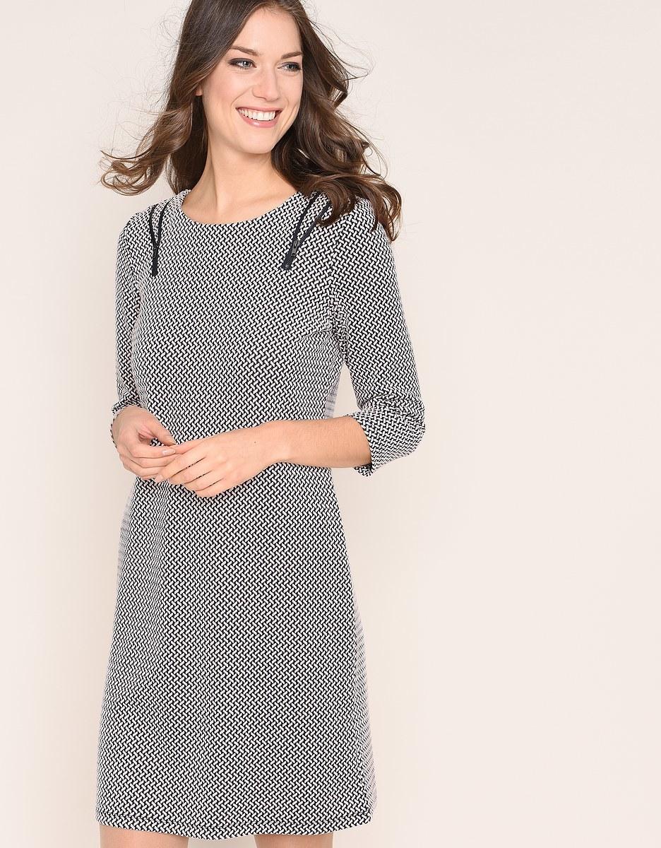 Bild 1 von Viventy - Modernes Jacquard-Jersey-Kleid
