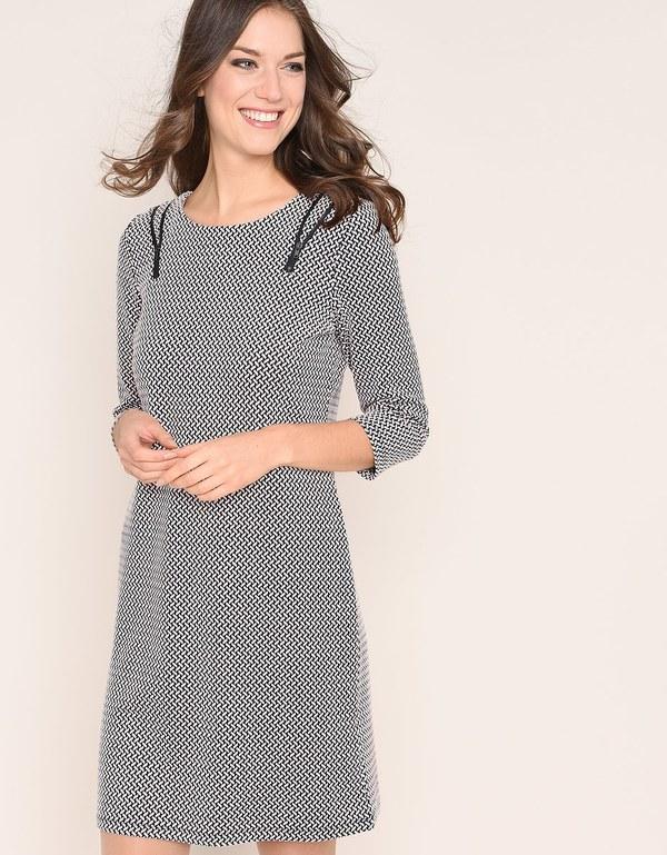 Viventy - Modernes Jacquard-Jersey-Kleid