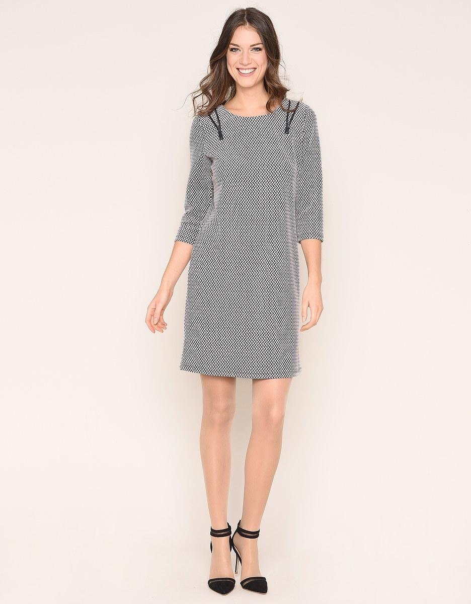 Bild 2 von Viventy - Modernes Jacquard-Jersey-Kleid
