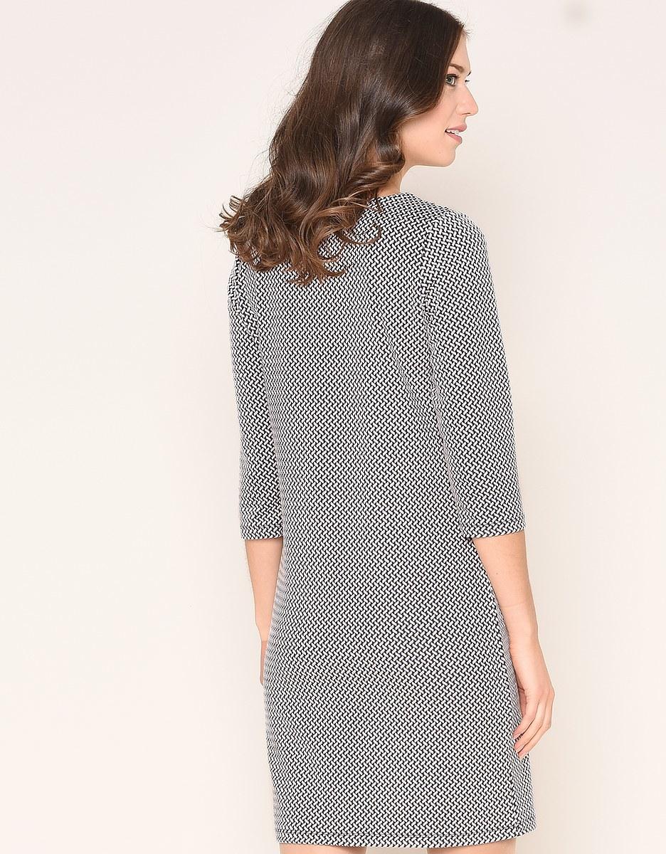 Bild 3 von Viventy - Modernes Jacquard-Jersey-Kleid