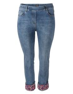VIA APPIA DUE - Topmodische 5-Pocket-Jeans mit Stickerei
