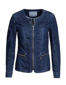 Bexleys woman - Jeansblazer mit Rundhals-Ausschnitt