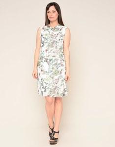 Viventy - Kleid mit floralem Druck und Schleife am Ausschnitt