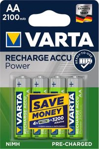 VARTA RECHARGE ACCU Power AA 2100mAh Blister 4