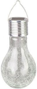 Solarlampe - aus Glas - 9 x 17 cm