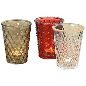 Windlicht Troja Glas lackiert verschiedene Farben ca. 13 cm Ø 10 cm