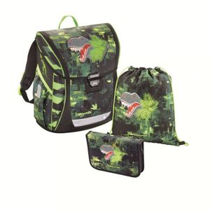 Baggymax - Fabby Schulranzenset Green Dino - 3tlg.