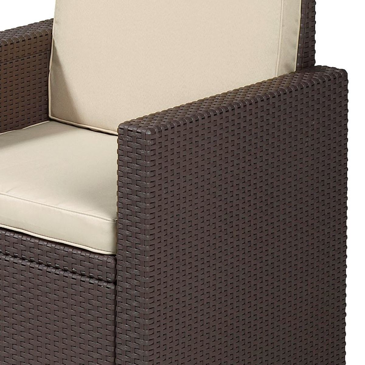 Bild 3 von Allibert Lounge-Sitzgruppe Victoria Braun mit Auflagenset