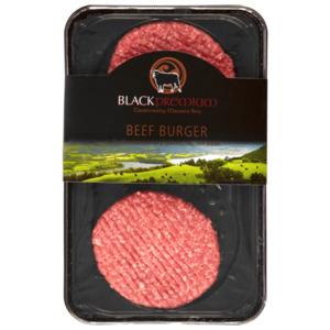 Black Premium Rinder Hamburger