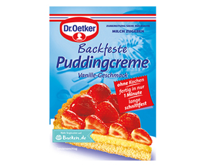 Dr. Oetker Tortenguss, Sahnesteif oder Puddingcreme