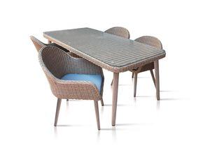 FLORABEST Tischgruppe 5tlg. Geflecht