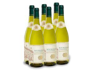 6 x 0,75-l-Flasche Weinpaket Bourgogne Chardonnay AOP trocken, Weißwein