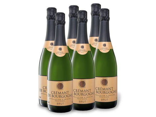 6 x 0,75-l-Flasche Weinpaket Crémant de Bourgogne brut, Schaumwein