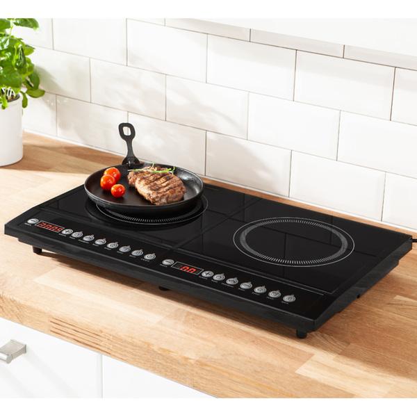 Powertec Kitchen Doppel-Induktionskochplatte