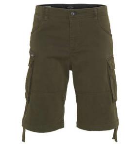 JACK & JONES             Bermudas, Comfort Fit, Baumwolle, diverse Taschen, seitliche Raffung