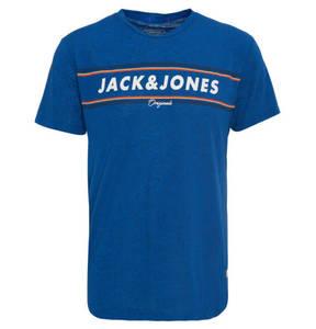JACK & JONES             T-Shirt, Regular Fit, Baumwoll-Mix, Print