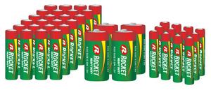 Zink-Kohle Batterie Set 40-teilig