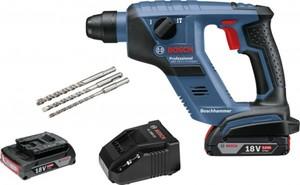 Bosch Professional Bohrhammer GBH 18 V ,  18 V, 2 Ah, 1 J
