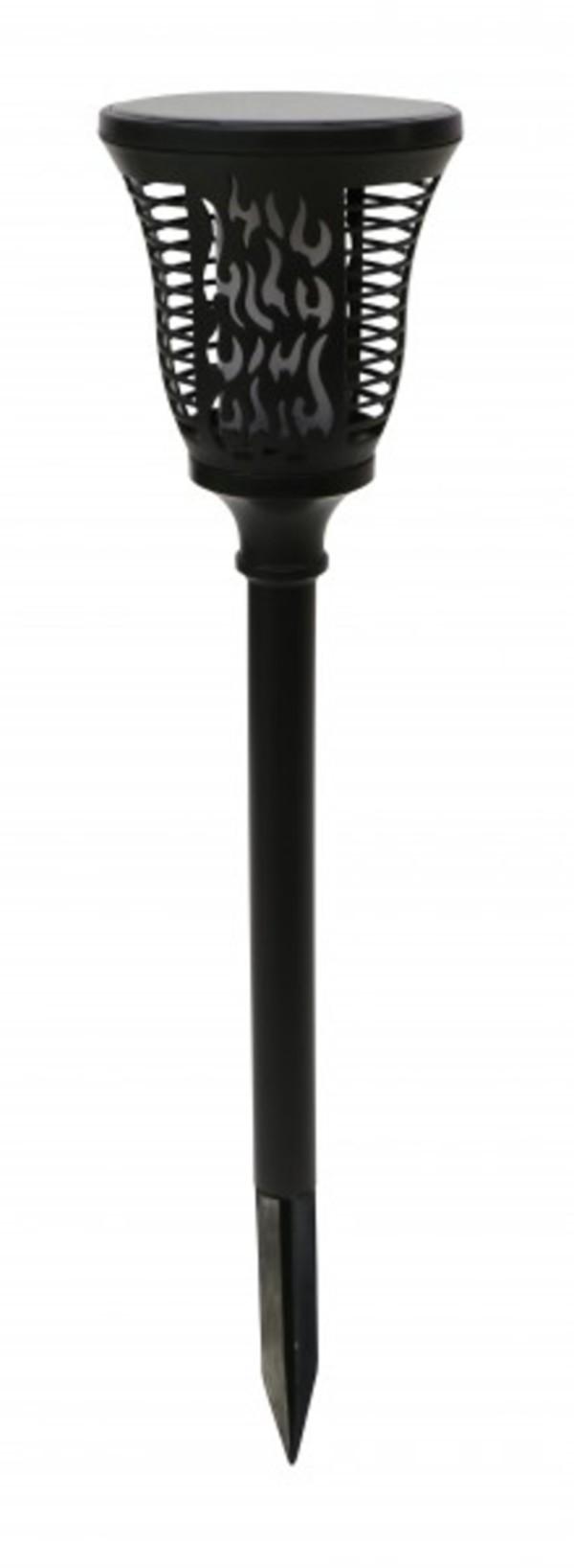 Trendline LED Solarfackel ,  schwarz