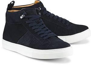 Velours-Sneaker von Ludwig Görtz in blau für Herren. Gr. 40,41,42,43,44