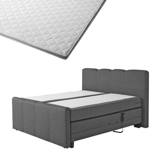 Boxspringbett-Set SUPERDREAM Odense/ErgoMAXX® Gel Touch® Visko-Gelschaum-Topper (140x200)