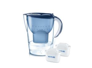 BRITA 100933 MARELLA XL BLAU + 2 MAXTRA, Tischwasserfilter, MAXTRA+, Blau