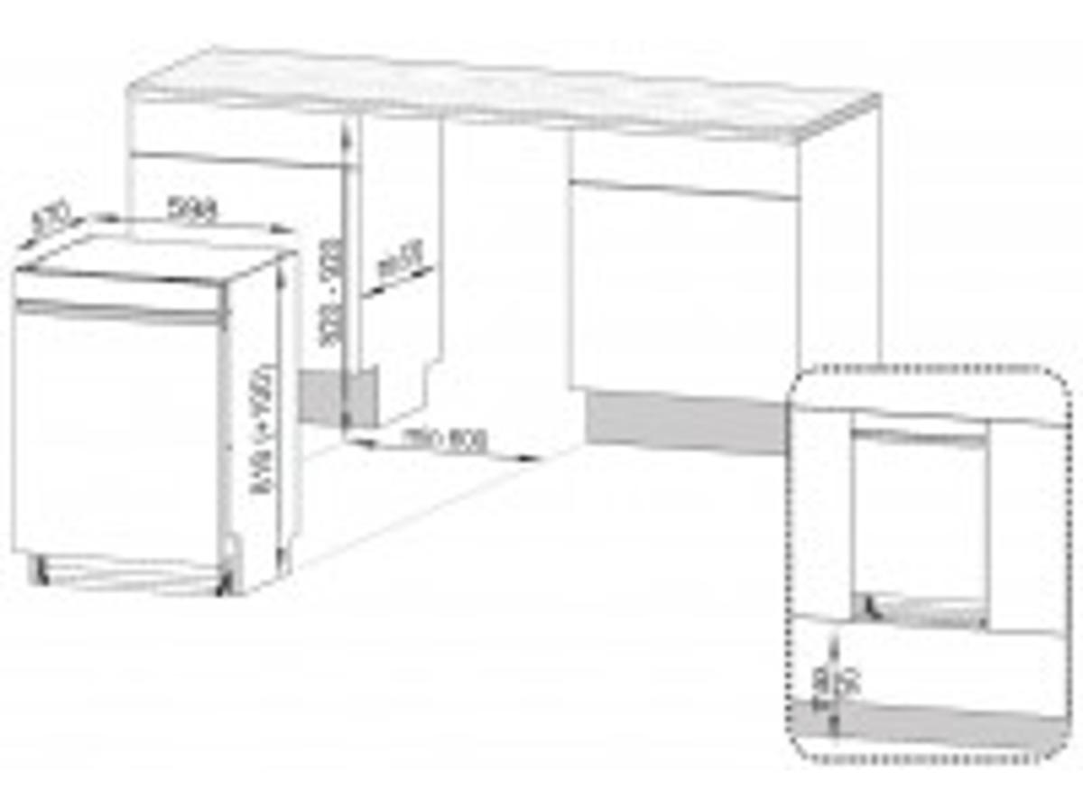 Bild 3 von BEKO DUN6634FX2, Geschirrspüler, Einbaugerät, A++, 598 mm, 44 dB (A)