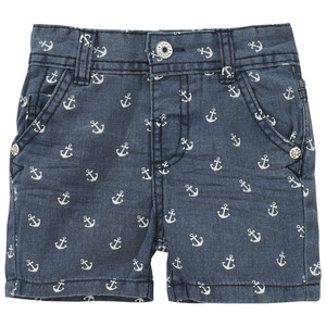 Baby Jeans-Shorts mit Anker-Allover