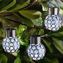 Bild 1 von I-Glow LED-Solar-Leuchtkugeln, Crystal Weiß - 3er Set