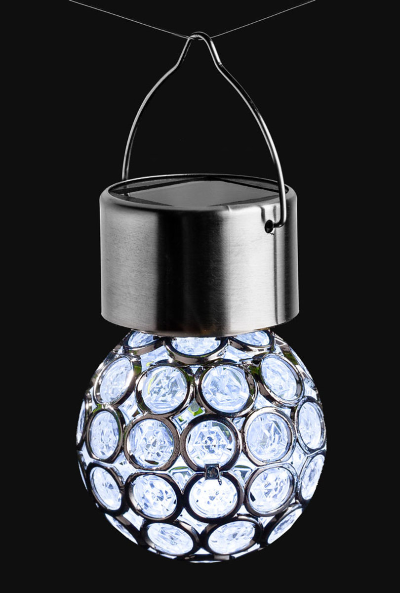 Bild 2 von I-Glow LED-Solar-Leuchtkugeln, Crystal Weiß - 3er Set